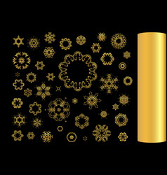 gold ornament se vector image