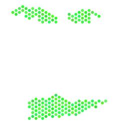 Green honeycomb usa virgin islands map vector