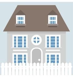 Grey house icon vector