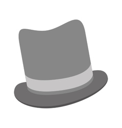 Grey tophat icon vector