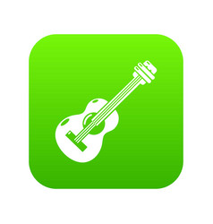guitar icon green vector image