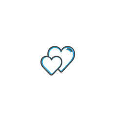 heart icon design lifestyle icon vector image
