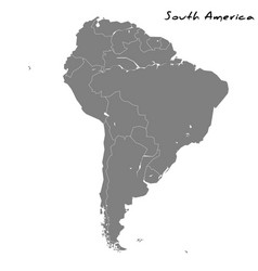 High quality map south america vector