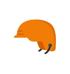 hiking helmet icon flat style vector image