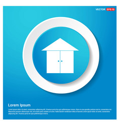 Home or house icon abstract blue web sticker vector