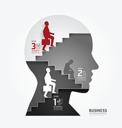 Infographics businessman up the Ladder paper vector
