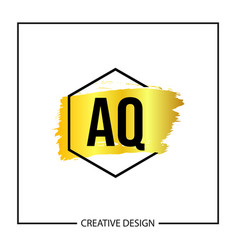 Initial letter aq logo template design vector