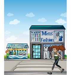 Jogger and stores vector
