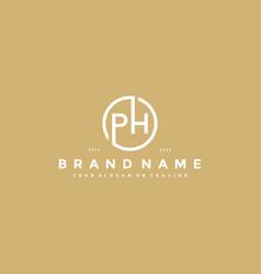 Letter ph logo design vector