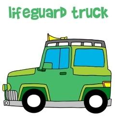 Lifeguard truck design art vector image