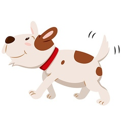 Little dog wagging its tail vector