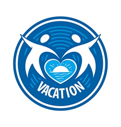logo people keep the heart of the sea and the sun vector image