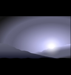 Martian sunset in the hills vector