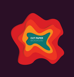 multi layers color texture 3d papercut layers vector image