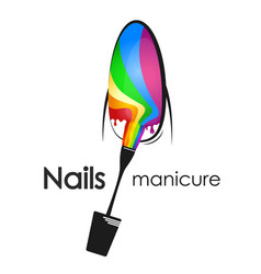Painting and manicure of nails vector