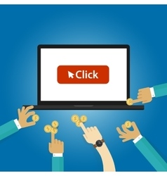 Pay per click ads bidding auction buying traffics vector