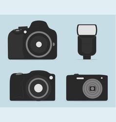 professional dslr photo camera set icon design vector image