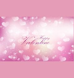 purple valentine heart background vector image