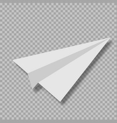 realistic paper airplane vector image
