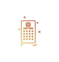 remote icon design vector image