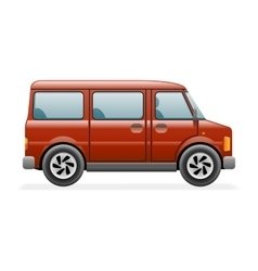 Retro Van Car Icon Isolated Realistic 3d Design vector