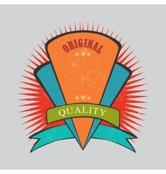 Retro vintage badge with texture vector image