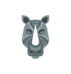 Rhinoceros African Animals Stylized Geometric Head vector