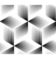 Seamless optical ornamental pattern vector