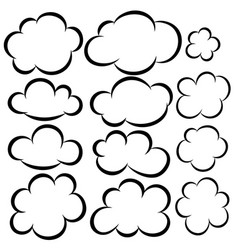 set cloud icons design elements for postercard vector image