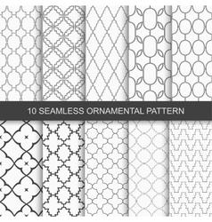 Set of seamless ornamental patterns vector
