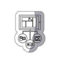 Smartphone database server icon stock vector