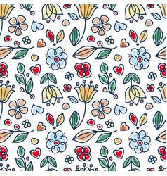 Spring and summer tile ornament scandinavian vector