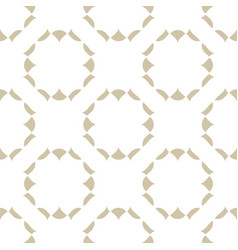 subtle golden seamless pattern abstract ornament vector image