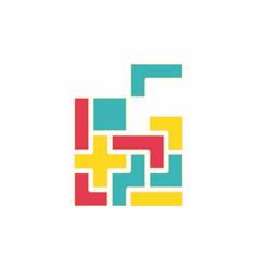 Tetris pieces vector