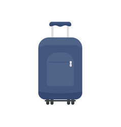 travel summer bag icon flat style vector image
