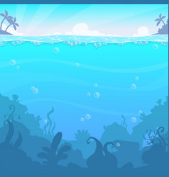 underwater landscape illasteration vector image