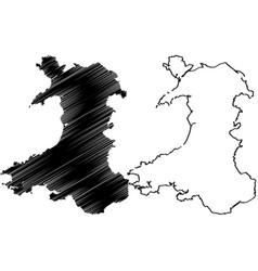 walesh map vector image