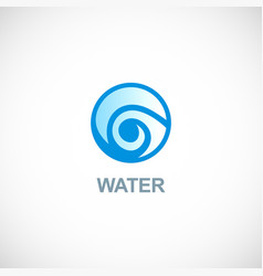 water circle logo vector image