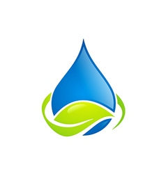 water drop leaf ecology abstract logo vector image
