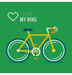 Bike Love Poster vector image vector image