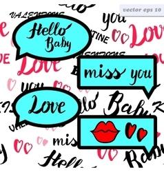 love speech bubble vector image vector image