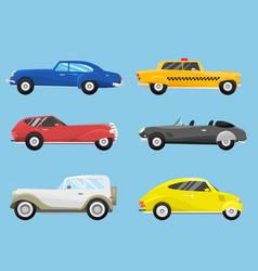 retro vintage old style car vehicle automobile vector image