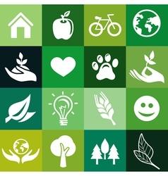 seamless pattern with ecology signs vector image vector image