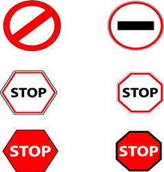 Sign stop and ban vector image