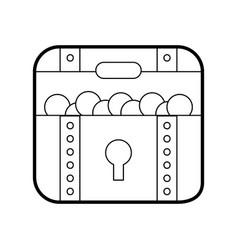 Treasure chest game icon vector