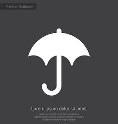 umbrella premium icon white on dark background vector image