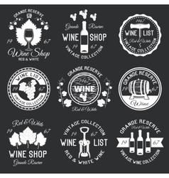 Wine Monochrome Emblems vector image vector image