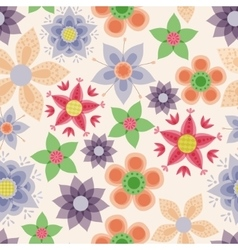Fantasy flowers vintage seamless pattern vector image vector image