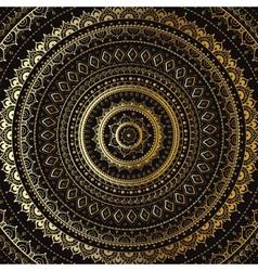 Gold mandala indian decorative pattern vector