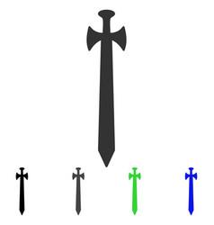 medieval sword flat icon vector image vector image